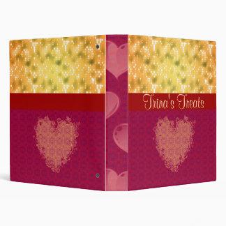 Oro y libro marrón de la receta