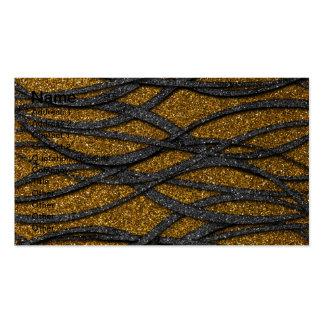 Oro y líneas negras tarjetas de visita