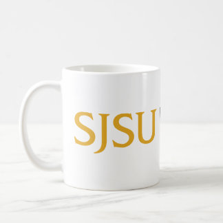 Oro y logotipo gris del iSchool de SJSU Taza Clásica