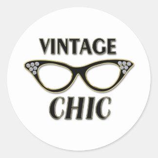 Oro y moda retra Bling del vintage de los vidrios