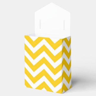 Oro y modelo blanco de Chevron Caja Para Regalo De Boda