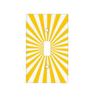Oro y modelo blanco del resplandor solar cubierta para interruptor