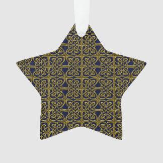 Oro y modelo conectado azul del Celtic de los