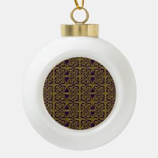 Oro y modelo conectado púrpura del Celtic de los Adorno De Cerámica En Forma De Bola