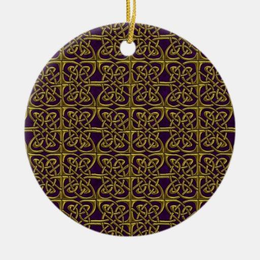Oro y modelo conectado púrpura del Celtic de los Ornamentos Para Reyes Magos
