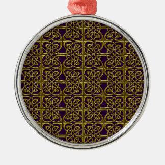 Oro y modelo conectado púrpura del Celtic de los Adorno Redondo Plateado