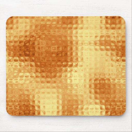 Oro y modelo de cristal texturizado amarillo alfombrillas de ratón