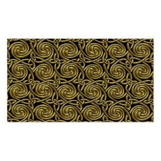 Oro y modelo de nudos espiral céltico del negro tarjetas de visita