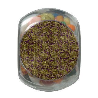 Oro y modelo de nudos espiral céltico púrpura frascos de cristal jelly belly