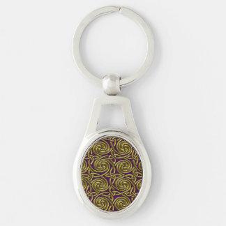 Oro y modelo de nudos espiral céltico púrpura llaveros