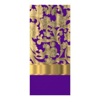 Oro y modelo floral púrpura del damasco lonas