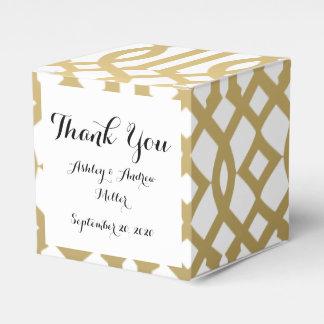 Oro y modelo moderno blanco del enrejado cajas para regalos de boda