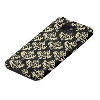 Oro y modelo negro del damasco del Victorian Samsung Galaxy S2 Carcasa