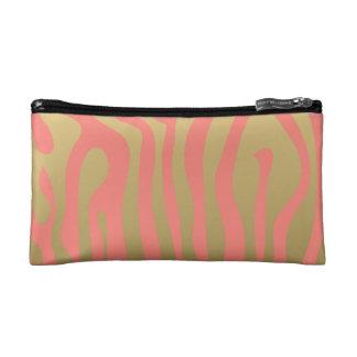 Oro y modelo rosado coralino de las rayas de la