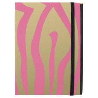 Oro y modelo rosado de las rayas de la cebra
