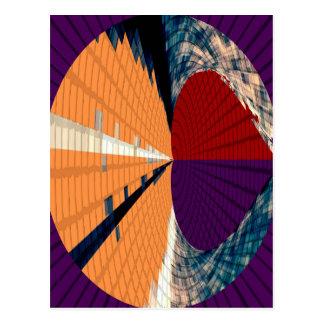 Oro y modelos púrpuras 12 de la pirámide del tarjeta postal