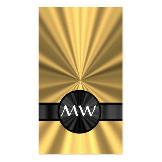 Oro y monograma negro tarjetas de visita