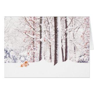 Oro y navidad blanco tarjeta