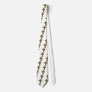 Oro y negro de la cruz céltica corbata personalizada