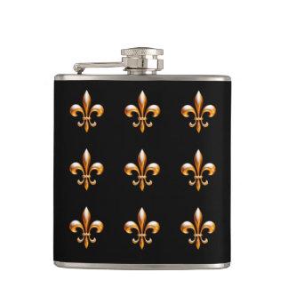 Oro y negro de la flor de lis de New Orleans