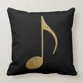oro y negro de la nota musical almohadas
