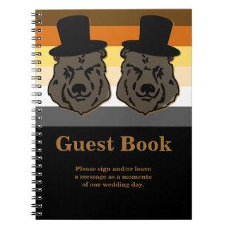 Oro y negro del libro de visitas del boda del libros de apuntes