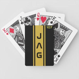 Oro y negro que compiten con naipes de las rayas baraja cartas de poker