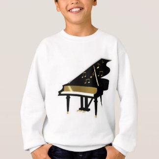 Oro y notas negras de la música del piano de cola sudadera