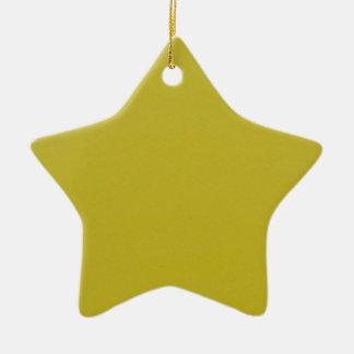 Oro y ornamento rojo de la estrella adorno navideño de cerámica en forma de estrella