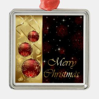 Oro y ornamentos rojos del navidad del centelleo ornamentos para reyes magos