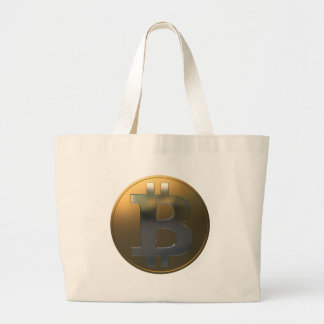 Oro y plata Bitcoin Bolsas De Mano
