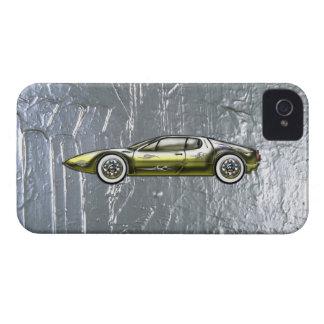 Oro y plata de encargo del coche de deportes de Case-Mate iPhone 4 fundas