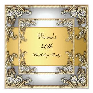 Oro y plata de la invitación de la fiesta de