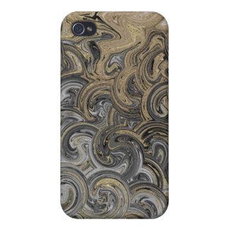 Oro y plata líquidos iPhone 4 protector