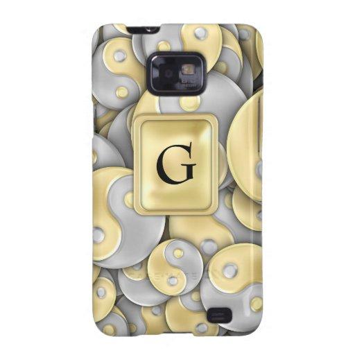 Oro y plata Yin y Yang Samsung Galaxy S2 Fundas
