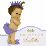 Oro y princesa púrpura fiesta de bienvenida al fotoescultura vertical