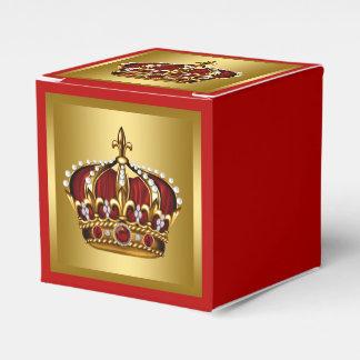 Oro y príncipe rojo cajas para regalos de boda
