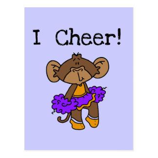 Oro y púrpura de la animadora del mono tarjetas postales