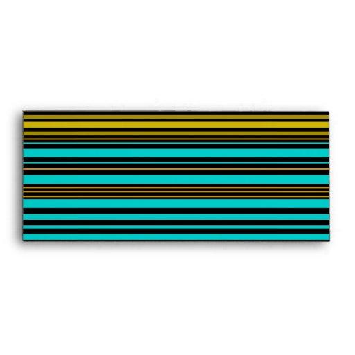 Oro y rayas negras azules de la aguamarina