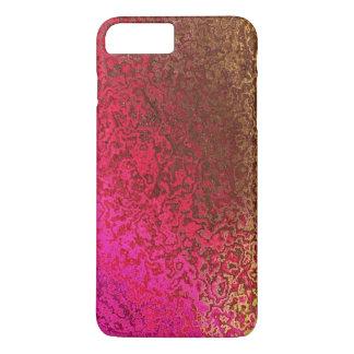Oro y reflejo del rosa funda iPhone 7 plus