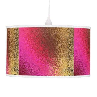 Oro y reflejo del rosa lámpara de techo