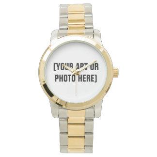Oro y reloj adaptables del tono plateado