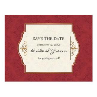 Oro y reserva elegante formal clásica del cordón l tarjeta postal