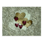 Oro y rubí de los regalos el | del corazón tarjetas postales