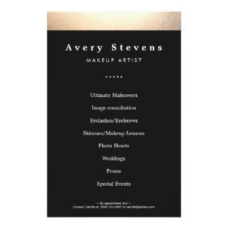 """Oro y salón de belleza negro promocionales folleto 5.5"""" x 8.5"""""""