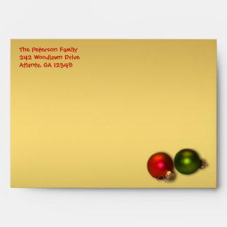 """Oro y sobre rojo del navidad para 5"""""""" tamaños x7"""