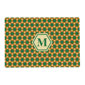 Oro y STH verde Placemat de Brown Tapete Individual