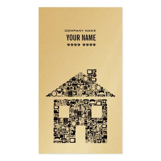 Oro y tarjeta de visita negra de las propiedades i