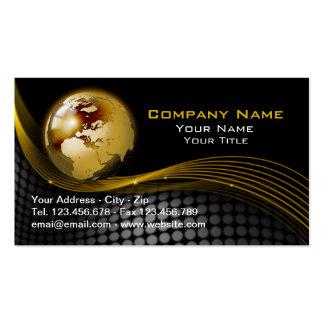 Oro y tarjeta de visita negra