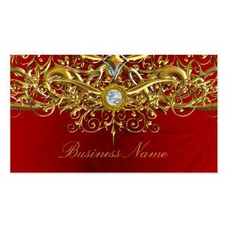 Oro y tarjeta de visita roja del extracto del remo
